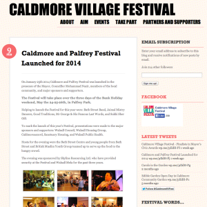 Creating a village in Caldmore