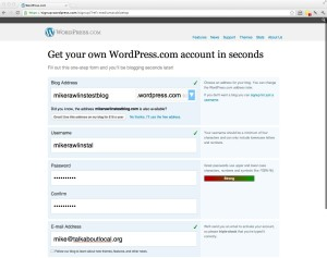 WordPress signup without the errors