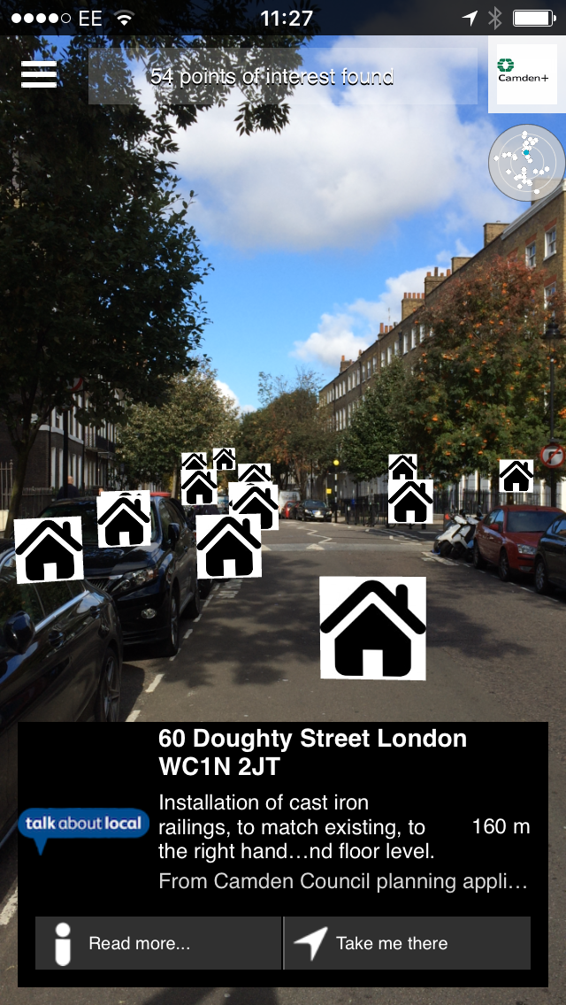 Augmented Reality Camden planning